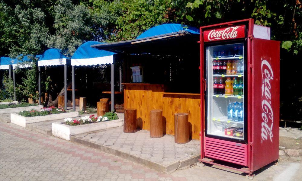 Территория кафе Фортуна.